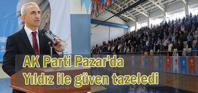 AK Parti Pazar'da Yıldız ile güven tazeledi