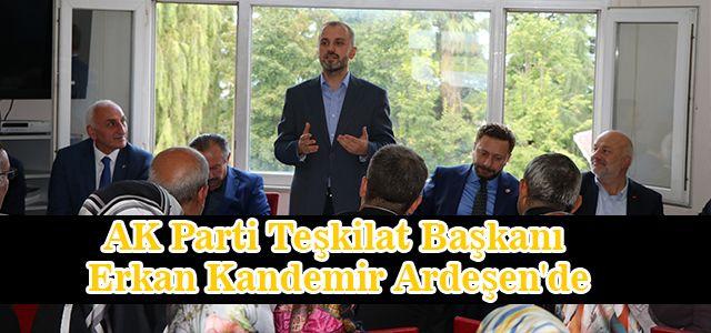 AK Parti Teşkilat Başkanı Erkan Kandemir Ardeşen'de