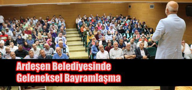 Ardeşen Belediye Başkanı Avni Kahya Personeliyle Bayramlaştı