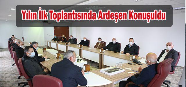 Ardeşen Belediye Başkanı Avni Kahya Siyasi Parti ve STK Temsilcileriyle Bir Araya Geldi.