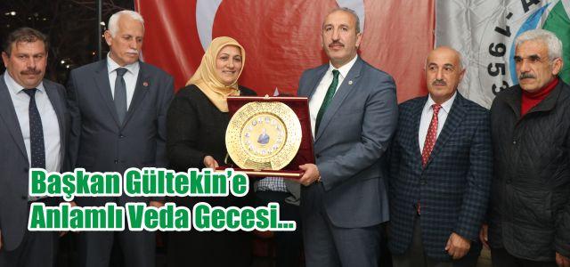 Ardeşen Belediye Başkanı Hakan Gültekin'in onuruna bir veda yemeği düzenlendi.