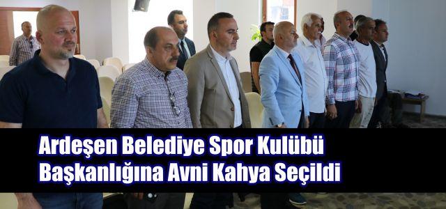 Ardeşen Belediye Spor Kulübü Başkanlığına Avni Kahya Seçildi