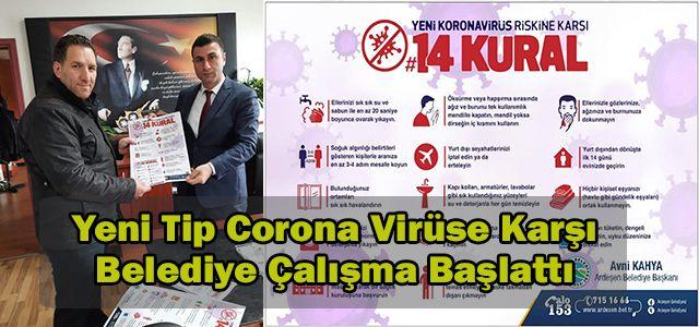 Ardeşen Belediyesi Yeni Tip Corona Virüs Konusunda Önlem Aldı