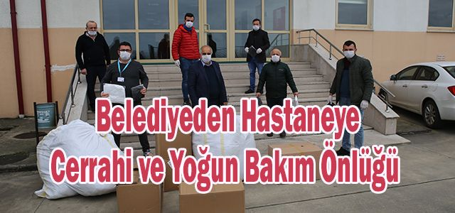 Ardeşen Belediyesinden Kaçkar Hastanesine Tıbbi Malzeme Yardımı Yapıldı