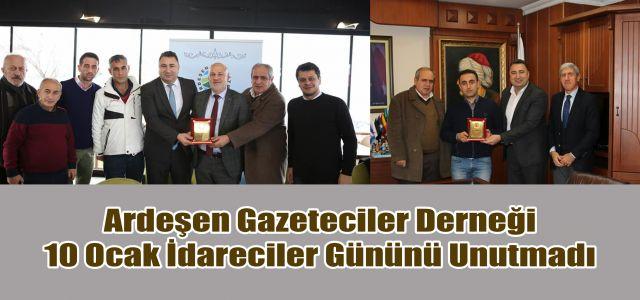 Ardeşen Gazeteciler Derneği 10 Ocak İdareciler Gününü Unutmadı