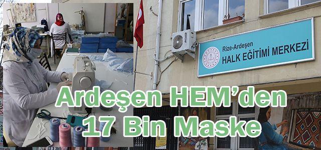 Ardeşen Halk Eğitim Müdürlüğünden 17 Bin Adet Maske