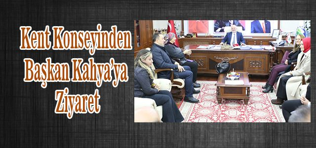 Ardeşen Kent Konseyi Derneğinden Ardeşen Belediye Başkanı Avni Kahya'ya ziyaret.