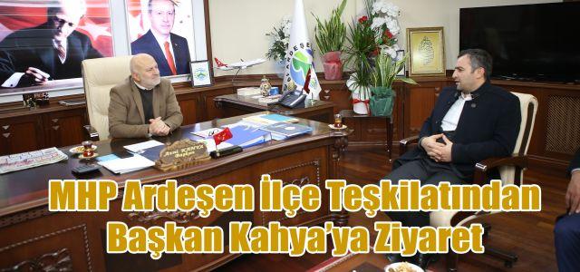 Ardeşen MHP İlçe Başkanından Başkan Kahya'ya Ziyaret
