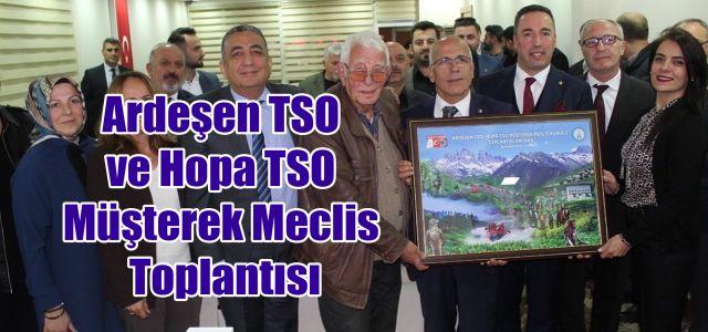 Ardeşen TSO ve Hopa TSO Müşterek Meclis Kurulu İstişare Toplantılarının 2.'si Gerçekleştirildi