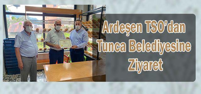 Ardeşen TSO'dan Tunca Belediyesine Ziyaret