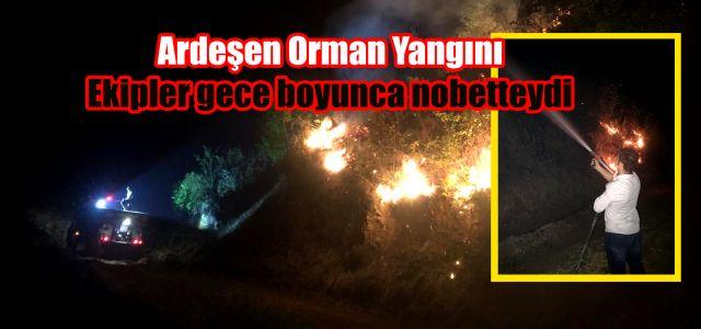 Ardeşen Yamaçdere Köyü (Bakkoz) Gece Boyu Nöbetteydi