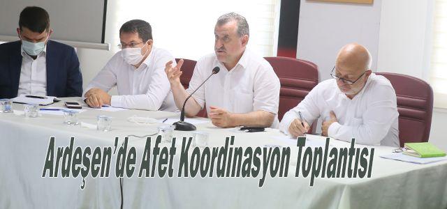 Ardeşen'de Afet Koordinasyon Toplantısı