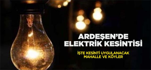 Ardeşen'de Elektrik Kesintisi