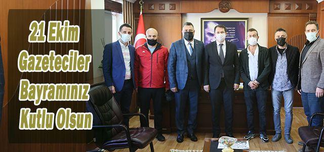 Ardeşen'de Görev Yapan Basın mensuplarından Kaymakam Çeçen'e Ziyaret