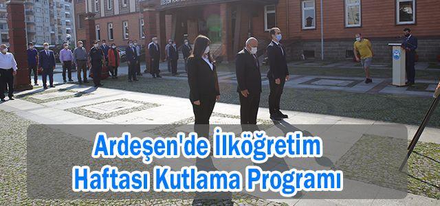 Ardeşen'de İlköğretim Haftası Kutlama Programı