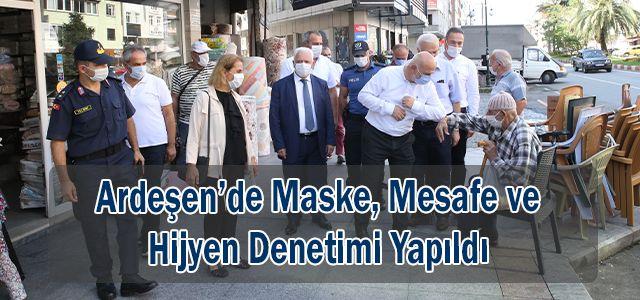 Ardeşen'de Maske Mesafe ve Hijyen Denetimi Yapıldı