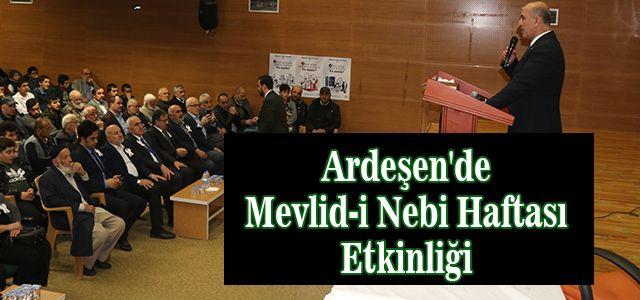 Ardeşen'de Mevlid-i Nebi Haftası Etkinliği