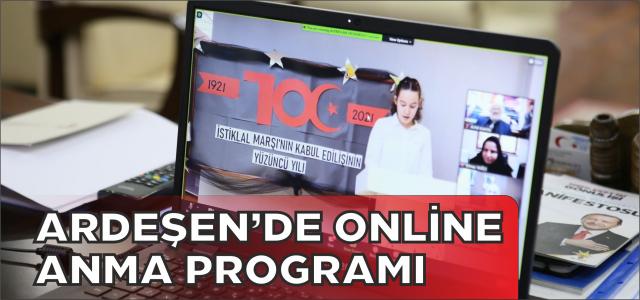 Ardeşen'de Online Anma Programı