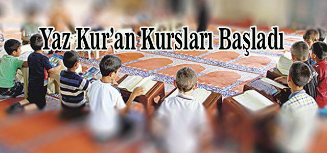 Ardeşen'de Yaz Kur'an Kurslarına Start verildi