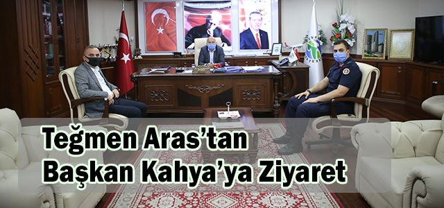 Ardeşen'in Yeni Jandarma Komutanından Başkan Kahya'ya Ziyaret