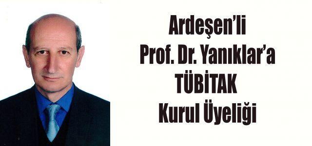 Ardeşen'li Prof. Dr. Cengiz Yanıklar'a Önemli Bir Görev Daha