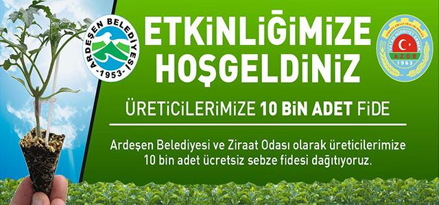 Ardeşenli Üreticiye 10 Bin Adet Sebze Fidesi Dağıtılıyor