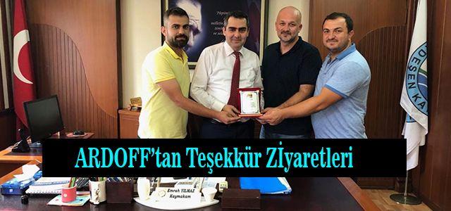 ARDOFF'tan Teşekkür Ziyaretleri