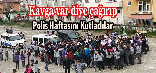 Arhavi Atatürk Ortaokulu Öğrencilerinden Polise Sürpriz