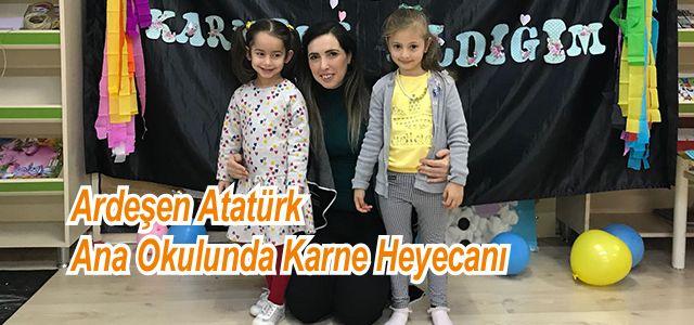 Atatürk Ana Okulunda Karne Heyecanı