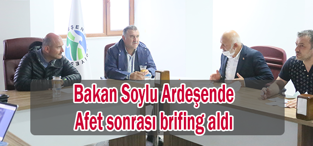 Bakan Soylu Ardeşen'de istiarelerde bulundu