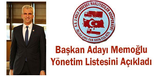 Başkan Adayı Memoğlu Yönetim Listesini Açıkladı