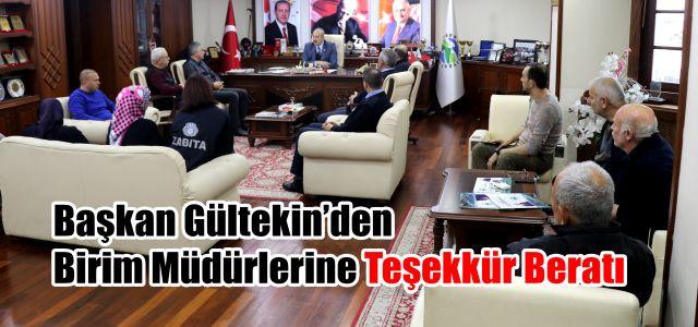 Başkan Gültekin'den Birim Müdürlerine Teşekkür Beratı