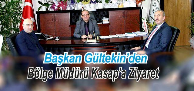 Başkan Gültekin'den Bölge Müdürüne Ziyaret
