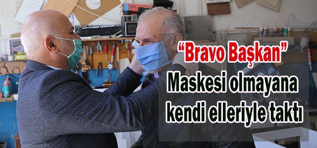 Başkan Kahya Sanayi Esnafını Tek Tek Ziyaret Edip Maske Dağıttı.