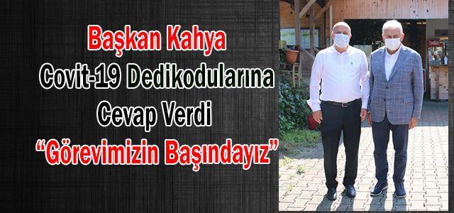 Başkan Kahya'dan Covit-19 Açıklaması