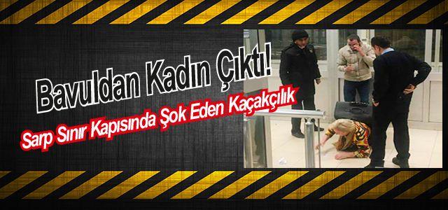 Bavulun İçinde Türkiye'ye Girerken Yakalandı
