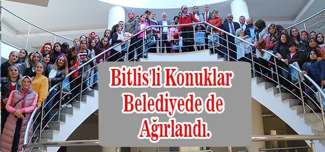 Bitlis'li Konuklar Ardeşen Belediyede de Ağırlandı.