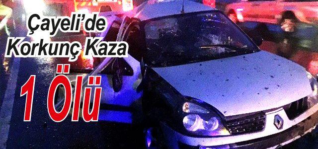 Çayeli'de Trafik Kazası: 1 Ölü