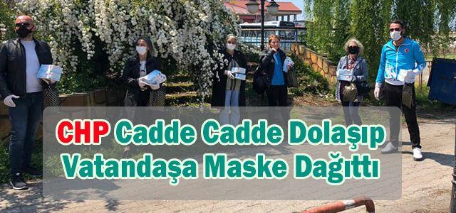 CHP Ardeşen İlçe Başkanlığı Cadde ve sokaklarda vatandaşlara maske dağıttı.