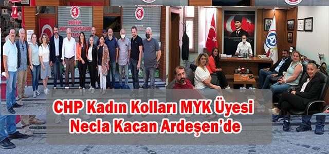 CHP Kadın Kolları MYK Üyesi Necla Kacan Ardeşen'de