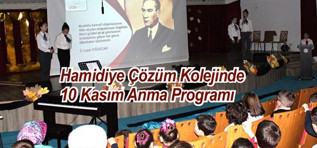 Çözüm Kolejinde 10 Kasım Anma Töreni