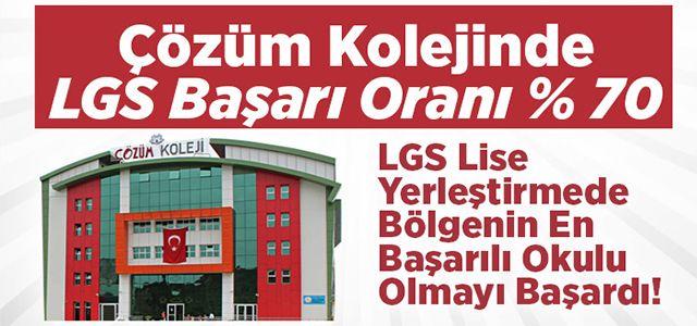Çözüm Kolejinde LGS Başarı Oranı % 70