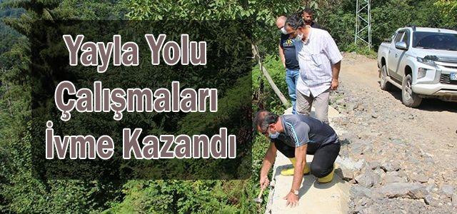 Deremezra Yaylası Turizm yolu çalışmalarını yerinde incelendi.
