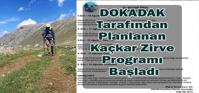 DOKADAK Tarafından Planlanan Kaçkar Zirve Programı Başladı
