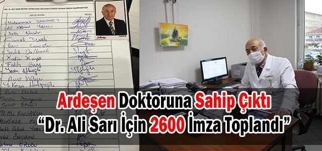Dr. Ali Sarı İçin 2600 İmza Toplandı