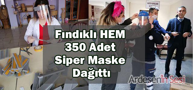 Fındıklı HEM 350 Adet Siper Maske Dağıttı