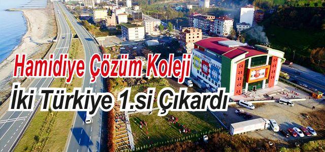 Hamidiye Çözüm Kolejinden 2 Türkiye birincisi