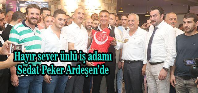 Hayırsever ünlü iş adamı Sedat Peker Rize'de