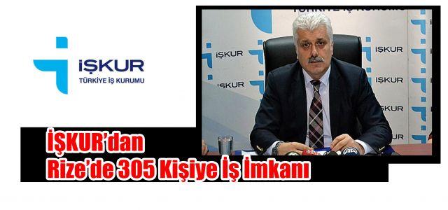 İŞKUR'dan Rize'de 305 Kişiye İş İmkânı.
