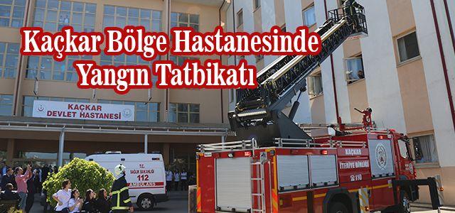 Kaçkar Devlet Hastanesinde Yangın Tatbikatı